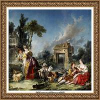 法国洛可可风格画派画家弗朗索瓦布歇Francois Boucher油画作品高清图片肖像画古典宫廷油画高清图片 (10)