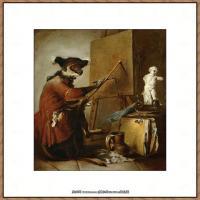 法国著名静物画家夏尔丹Jean Baptiste Siméon静物画巨匠夏尔丹油画作品高清图片 (69)