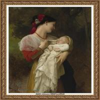 法国学院派画家威廉阿道夫布格罗Bouguereau Adolphe William油画人物高清图片 (93)