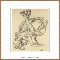 奥地利绘画大师埃贡席勒 Egon Schiele油画作品高清大图席勒绘画作品高清图片 (73)