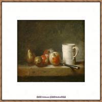 法国著名静物画家夏尔丹Jean Baptiste Siméon静物画巨匠夏尔丹油画作品高清图片 (54)