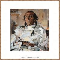 俄裔美籍画家尼古拉费申Nicolai Ivanovich Fechin油画作品高清图片 (50)