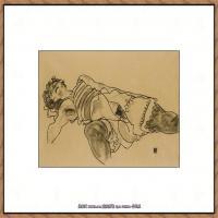 奥地利绘画大师埃贡席勒 Egon Schiele油画作品高清大图席勒绘画作品高清图片 (57)