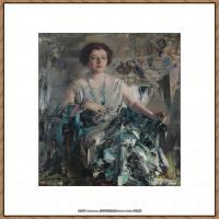 俄裔美籍画家尼古拉费申Nicolai Ivanovich Fechin油画作品高清图片 (12)