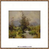 法国印象派艺术家尤金加林拉洛Eugene Galien Laloue巴黎风景印象油画高清大图 (18)