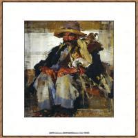 俄裔美籍画家尼古拉费申Nicolai Ivanovich Fechin油画作品高清图片 (18)