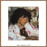 俄裔美籍画家尼古拉费申Nicolai Ivanovich Fechin油画作品高清图片 (41)