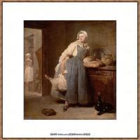 法国著名静物画家夏尔丹Jean Baptiste Siméon静物画巨匠夏尔丹油画作品高清图片 (9)