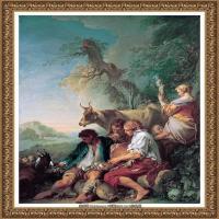 法国洛可可风格画派画家弗朗索瓦布歇Francois Boucher油画作品高清图片肖像画古典宫廷油画高清图片 (28)