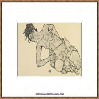 奥地利绘画大师埃贡席勒 Egon Schiele油画作品高清大图席勒绘画作品高清图片 (60)