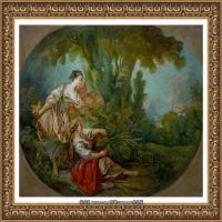 法国洛可可风格画派画家弗朗索瓦布歇Francois Boucher油画作品高清图片肖像画古典宫廷油画高清图片 (253)
