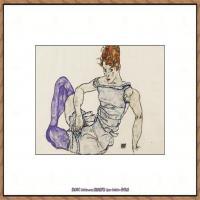 奥地利绘画大师埃贡席勒 Egon Schiele油画作品高清大图席勒绘画作品高清图片 (67)