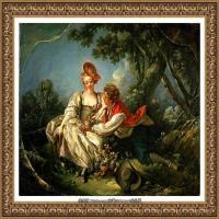 法国洛可可风格画派画家弗朗索瓦布歇Francois Boucher油画作品高清图片肖像画古典宫廷油画高清图片 (31)