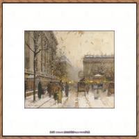 法国印象派艺术家尤金加林拉洛Eugene Galien Laloue巴黎风景印象油画高清大图 (6)