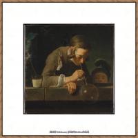 法国著名静物画家夏尔丹Jean Baptiste Siméon静物画巨匠夏尔丹油画作品高清图片 (34)