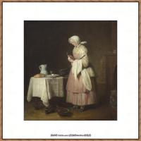 法国著名静物画家夏尔丹Jean Baptiste Siméon静物画巨匠夏尔丹油画作品高清图片 (50)