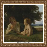 法国学院派画家威廉阿道夫布格罗Bouguereau Adolphe William油画人物高清图片 (91)