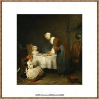 法国著名静物画家夏尔丹Jean Baptiste Siméon静物画巨匠夏尔丹油画作品高清图片 (35)