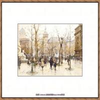 法国印象派艺术家尤金加林拉洛Eugene Galien Laloue巴黎风景印象油画高清大图 (11)