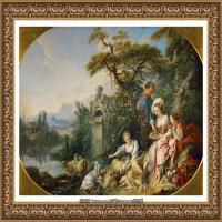 法国洛可可风格画派画家弗朗索瓦布歇Francois Boucher油画作品高清图片肖像画古典宫廷油画高清图片 (244)