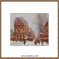 法国印象派艺术家尤金加林拉洛Eugene Galien Laloue巴黎风景印象油画高清大图 (65)