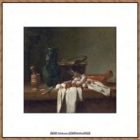 法国著名静物画家夏尔丹Jean Baptiste Siméon静物画巨匠夏尔丹油画作品高清图片 (44)