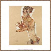 奥地利绘画大师埃贡席勒 Egon Schiele油画作品高清大图席勒绘画作品高清图片 (43)