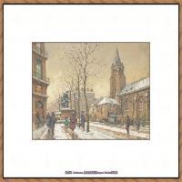 法国印象派艺术家尤金加林拉洛Eugene Galien Laloue巴黎风景印象油画高清大图 (27)