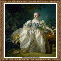 法国洛可可风格画派画家弗朗索瓦布歇Francois Boucher油画作品高清图片肖像画古典宫廷油画高清图片 (1)