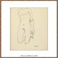 奥地利绘画大师埃贡席勒 Egon Schiele油画作品高清大图席勒绘画作品高清图片 (68)