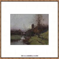 法国印象派艺术家尤金加林拉洛Eugene Galien Laloue巴黎风景印象油画高清大图 (26)