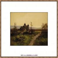 法国印象派艺术家尤金加林拉洛Eugene Galien Laloue巴黎风景印象油画高清大图 (30)