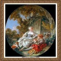 法国洛可可风格画派画家弗朗索瓦布歇Francois Boucher油画作品高清图片肖像画古典宫廷油画高清图片 (23)