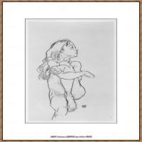 奥地利绘画大师埃贡席勒 Egon Schiele油画作品高清大图席勒绘画作品高清图片 (50)