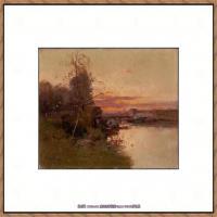 法国印象派艺术家尤金加林拉洛Eugene Galien Laloue巴黎风景印象油画高清大图 (73)