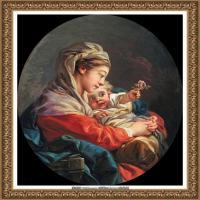 法国洛可可风格画派画家弗朗索瓦布歇Francois Boucher油画作品高清图片肖像画古典宫廷油画高清图片 (225)
