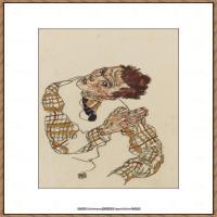 奥地利绘画大师埃贡席勒 Egon Schiele油画作品高清大图席勒绘画作品高清图片 (62)