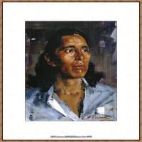 俄裔美籍画家尼古拉费申Nicolai Ivanovich Fechin油画作品高清图片 (52)