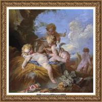 法国洛可可风格画派画家弗朗索瓦布歇Francois Boucher油画作品高清图片肖像画古典宫廷油画高清图片 (20)