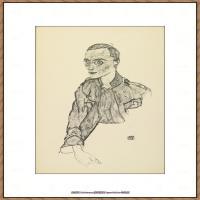 奥地利绘画大师埃贡席勒 Egon Schiele油画作品高清大图席勒绘画作品高清图片 (61)