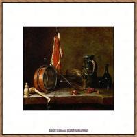 法国著名静物画家夏尔丹Jean Baptiste Siméon静物画巨匠夏尔丹油画作品高清图片 (18)