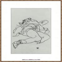 奥地利绘画大师埃贡席勒 Egon Schiele油画作品高清大图席勒绘画作品高清图片 (81)