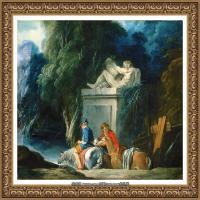 法国洛可可风格画派画家弗朗索瓦布歇Francois Boucher油画作品高清图片肖像画古典宫廷油画高清图片 (35)