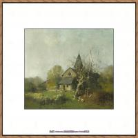 法国印象派艺术家尤金加林拉洛Eugene Galien Laloue巴黎风景印象油画高清大图 (32)