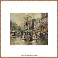 法国印象派艺术家尤金加林拉洛Eugene Galien Laloue巴黎风景印象油画高清大图 (88)