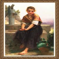 法国学院派画家威廉阿道夫布格罗Bouguereau Adolphe William油画人物高清图片 (97)