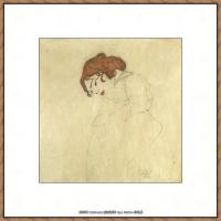 奥地利绘画大师埃贡席勒 Egon Schiele油画作品高清大图席勒绘画作品高清图片 (83)