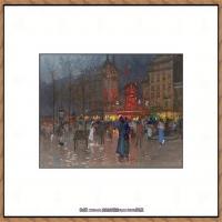法国印象派艺术家尤金加林拉洛Eugene Galien Laloue巴黎风景印象油画高清大图 (35)