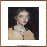 俄裔美籍画家尼古拉费申Nicolai Ivanovich Fechin油画作品高清图片 (54)