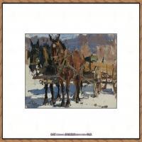 俄裔美籍画家尼古拉费申Nicolai Ivanovich Fechin油画作品高清图片 (8)